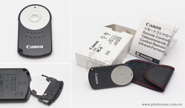 Remote điều khiển từ xa CANON RC-6 dành cho Canon 350D 400D 450D 500D 550D 600D 650D 700D 750D 760D 60D 7D 5DII