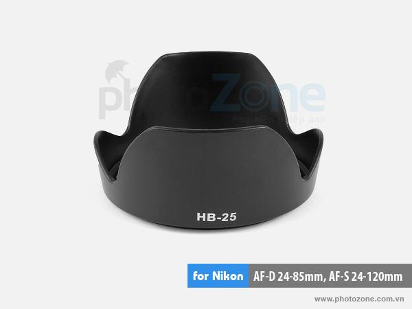 Hood HB-25 for nikon AF-D 24-85mm, AF-S 24-120mm