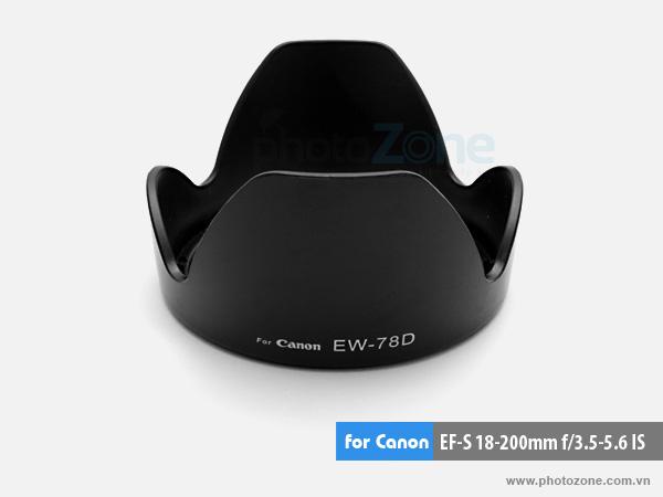 Hood EW-78D for Canon EF-S 18-200mm f/3.5-5.6 IS, EF 28-200mm f/3.5-5.6 USM