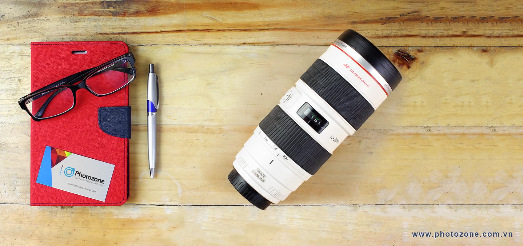 Bình giữ nhiệt Inox dạng ống kính (Lenscup) 70-200mm F/2.8L IS USM