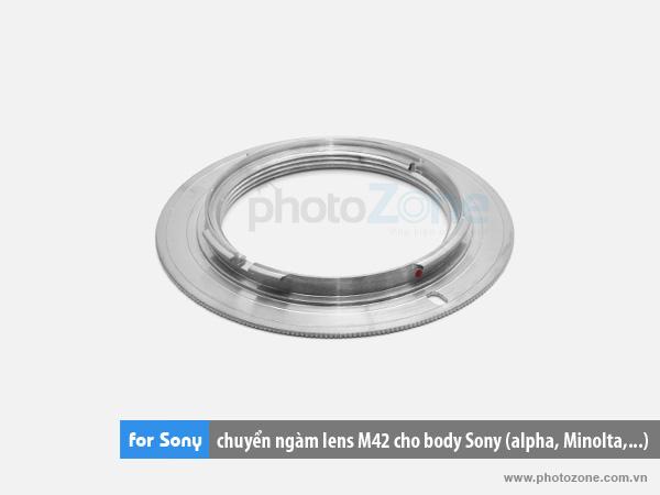 Mount chuyển ngàm (Hợp kim) M42-Sony(A-mount) for body Sony alpha, Minolta
