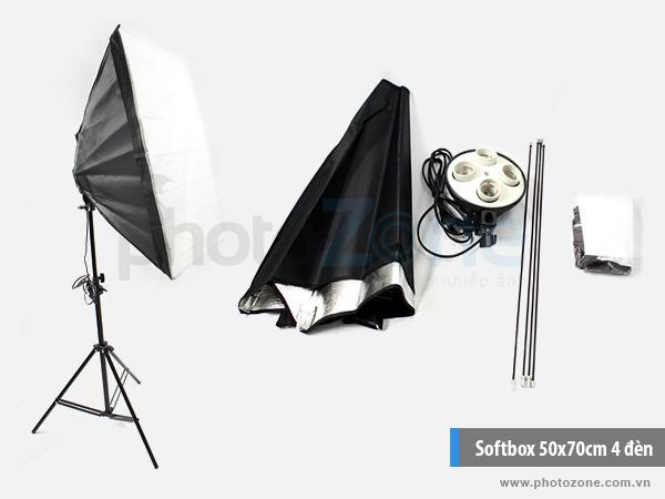 Softbox 50x70cm đuôi 4 đèn studio