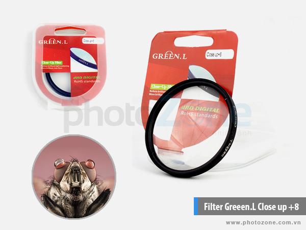 Kính lọc Greeen.L Close up +8 (Filter Close-up)