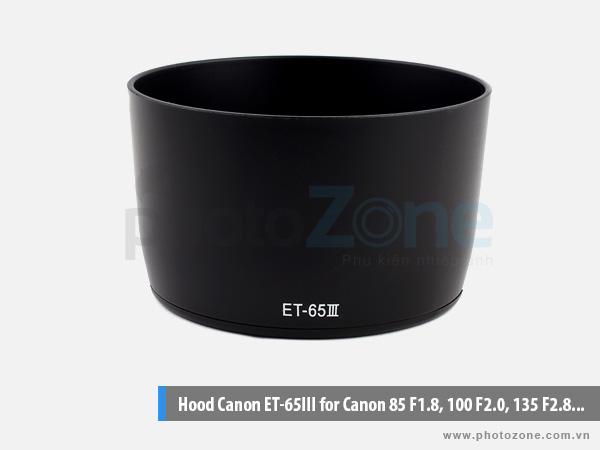 Hood ET-65 III for Canon 85 F1.8, 100 F2.0, 135 F2.8...