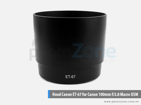 Hood ET-67 for Canon 100mm f/2.8 Macro USM