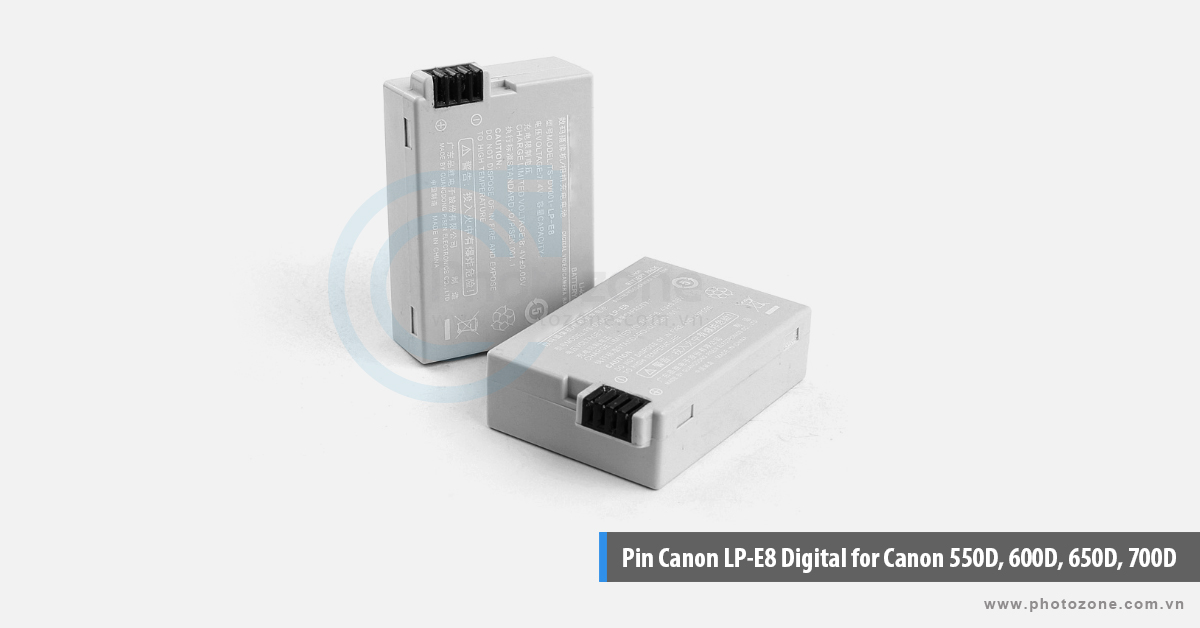 Pin Canon LP-E8 Digital for Canon 550D, 600D, 650D, 700D