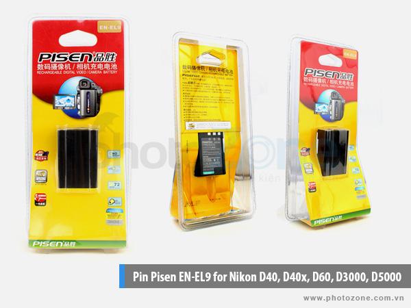 Pin Nikon EN-EL9 Pisen for Nikon D40, D40x, D60, D3000, D5000