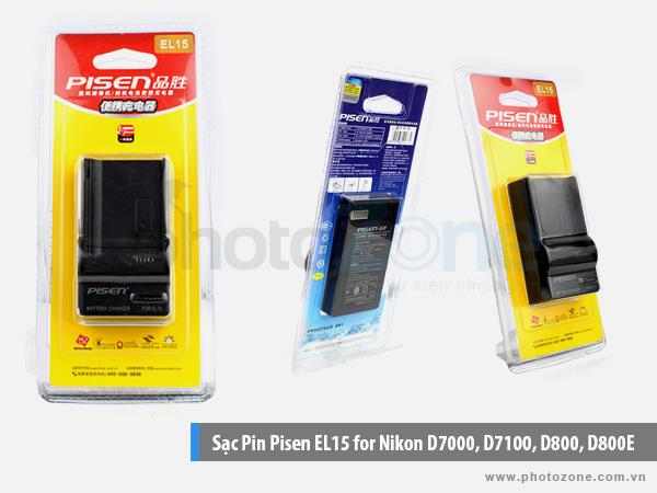 Sạc Pin Nikon EL15 Pisen for Nikon D7000, D7100, D800, D800E