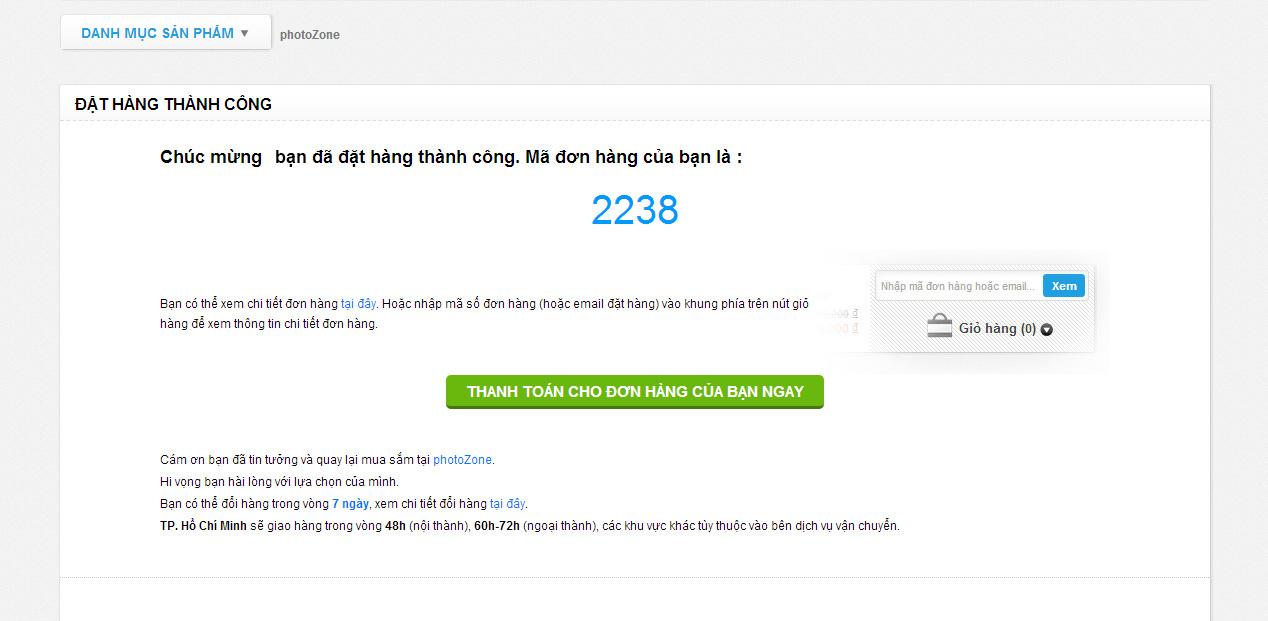 Hướng dẫn sử dụng Internet Banking để thanh toán trên photoZone