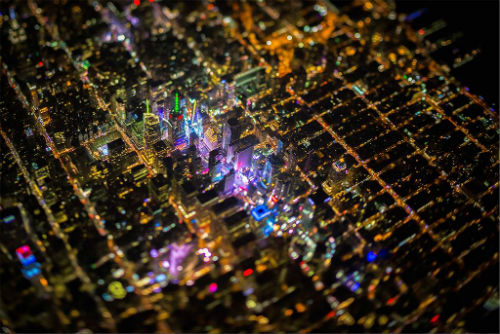 Bộ ảnh tuyệt đẹp của New York về đêm từ độ cao 2.000m