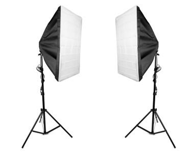 Bộ 2 Softbox đuôi 4 đèn 50x70cm LED 240W