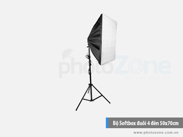 Bộ Softbox đuôi 4 đèn 50x70cm LED 120W