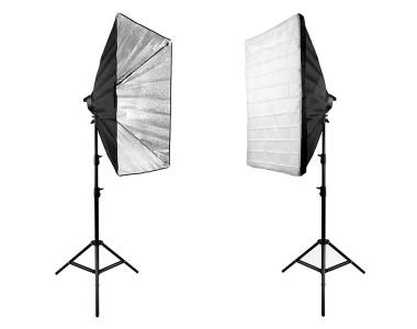 Bộ 2 Softbox đuôi 5 đèn 60x90cm LED 400W