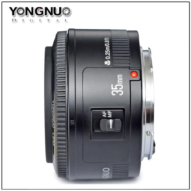 Yongnuo giới thiệu ống kính 35mm f/2 cho DSLR Canon