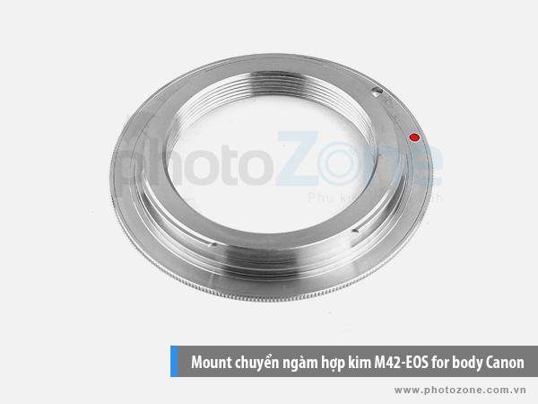 Mount chuyển ngàm (Hợp kim) M42-EOS for body Canon