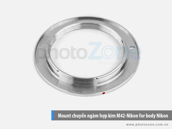 Mount chuyển ngàm (Hợp kim) M42-Nikon for body Nikon