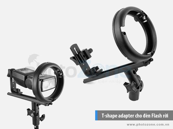 T-shape adapter ngàm Bowen cho đèn Flash rời