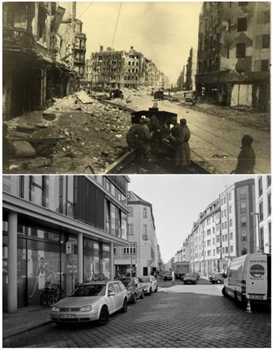 Loạt ảnh độc so sánh Berlin năm 1945 và 2015