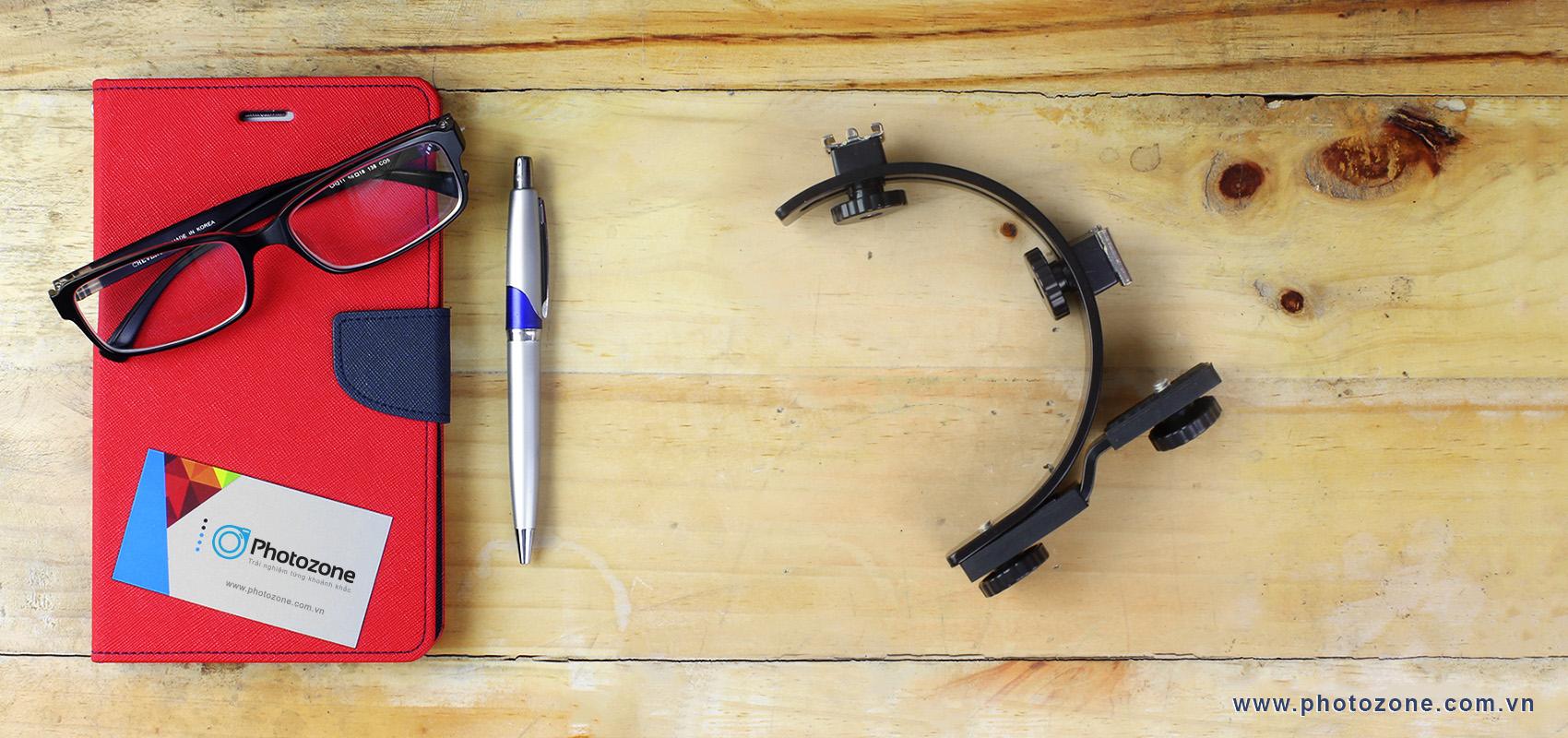 C-shape bracket - Thanh giữ flash rời máy ảnh chữ C