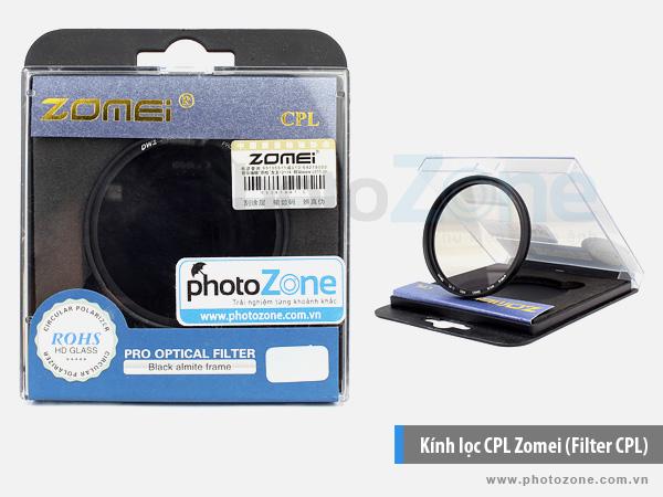 Kính lọc CPL Zomei (Filter CPL)