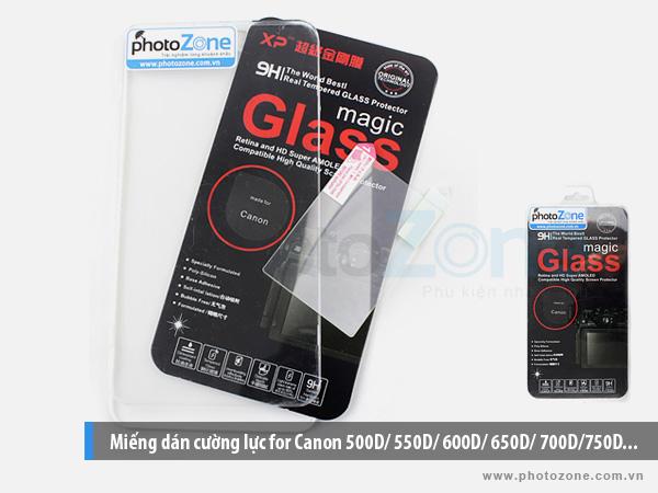 Miếng dán cường lực for Canon xxxD - 600D/ 650D/ 700D/750D...