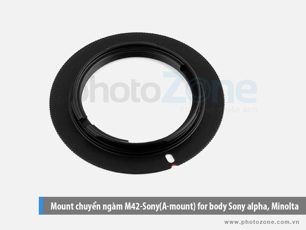 Mount chuyển ngàm M42-Sony(A-mount) for body Sony alpha, Minolta