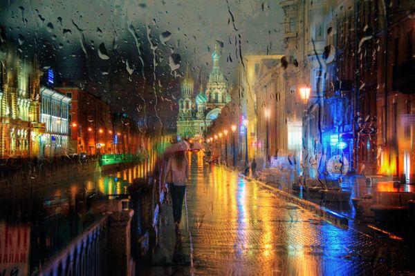 Những bức ảnh chụp đường phố Nga trong mưa đẹp như tranh sơn dầu