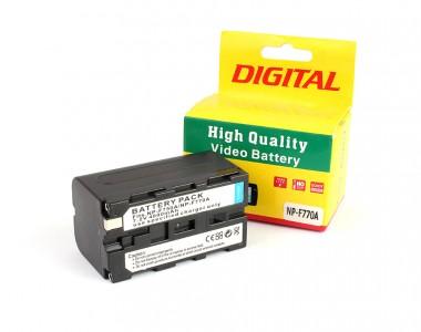 Pin sạc NP-F770 Digital for LED quay phim dung lượng lớn 4800mAh