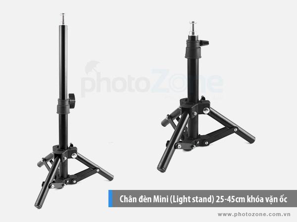 Chân đèn Mini (Light stand) 25-45cm khóa vặn ốc