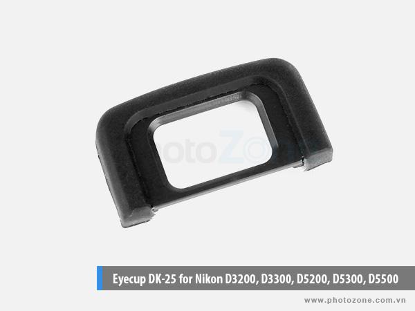 Eyecup DK-25 for Nikon D3200, D3300, D5200, D5300, D5500