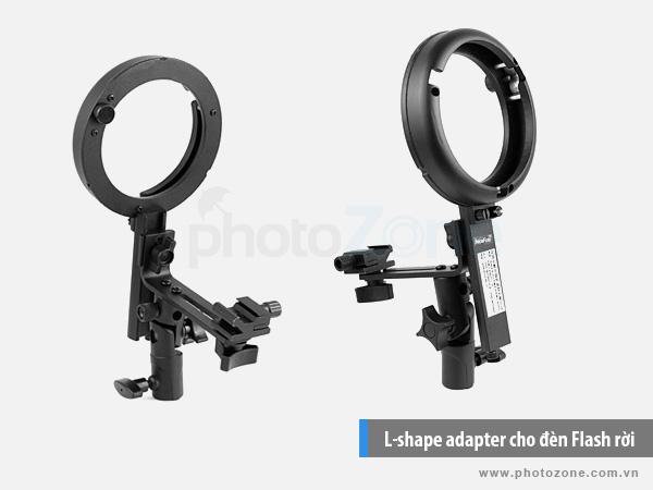L-shape adapter ngàm Bowen cho đèn Flash rời