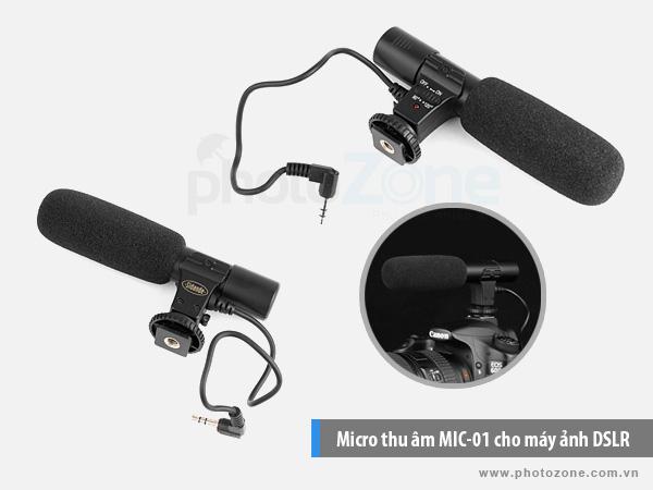 Micro thu âm MIC-01 cho máy ảnh DSLR