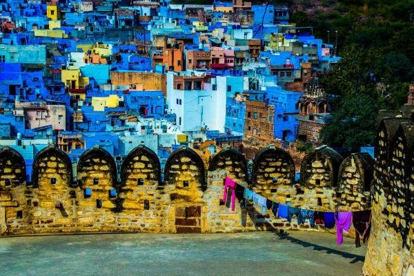 Thành phố Jodhpur ở Ấn Độ hiện lên như trong truyện cổ tích.