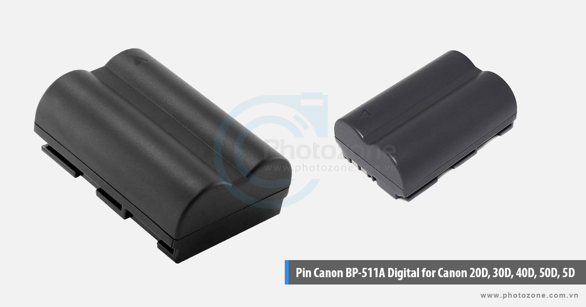 Pin Canon BP-511A Digital for Canon 20D, 30D, 40D, 50D, 5D