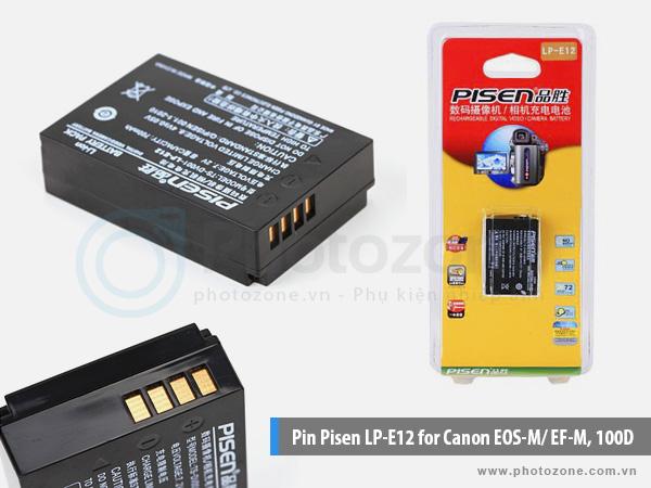 Pin Canon LP-E12 Pisen for Canon EOS M10, 100D