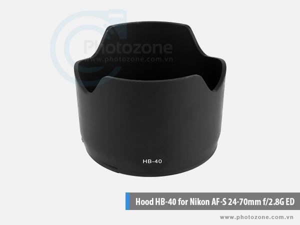 Hood HB-40 for Nikon AF-S 24-70mm f/2.8G ED