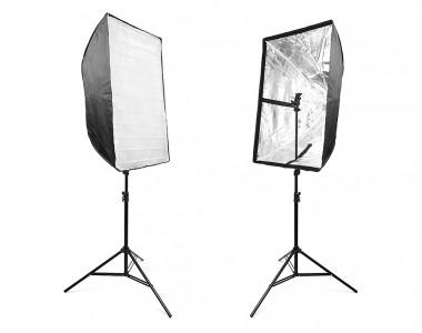 Bộ 2 Softbox dù 60x90cm đa năng chuyên chụp ngoại cảnh