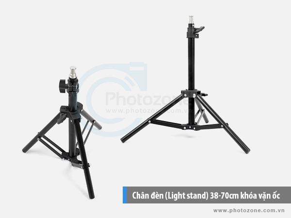 Chân đèn (Light stand) 38-70cm khóa vặn ốc