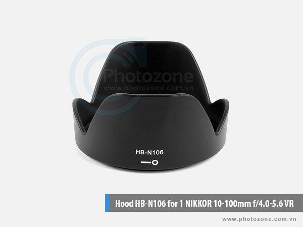 Hood HB-N106 for AF-P 18-55mm f/3.5-5.6G, AF-P 18-55mm f/3.5-5.6G VR, 1 NIKKOR 10-100mm f/4.0-5.6 VR