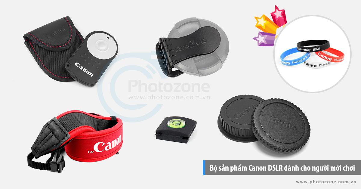 Bộ sản phẩm Canon DSLR dành cho người mới chơi