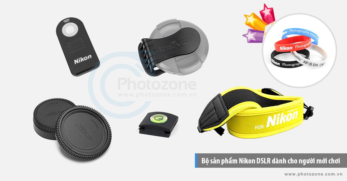 Bộ sản phẩm Nikon DSLR NewStart dành cho người mới chơi