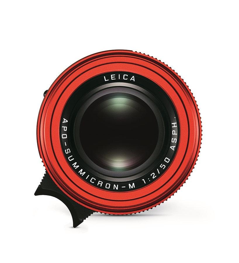 """Leica hé lộ lens 50mm màu đỏ """"limited edition"""" đầu tiên"""