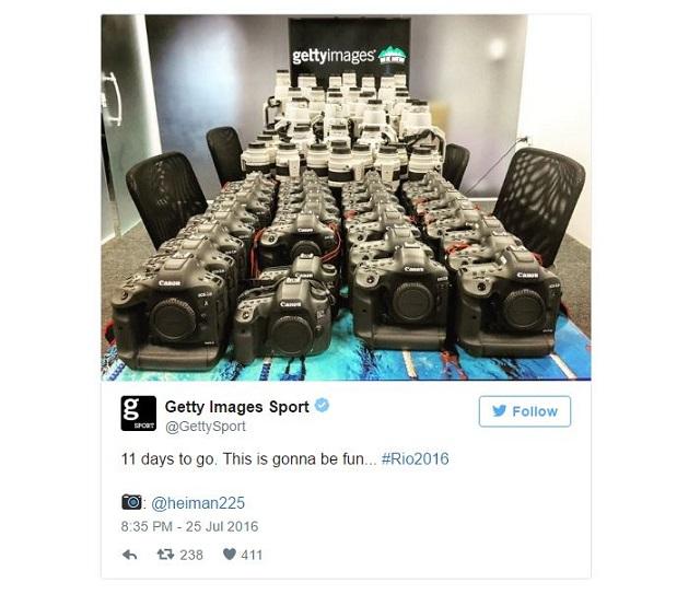 Getty Images khoe dàn camera khủng khiến bao người ước ao