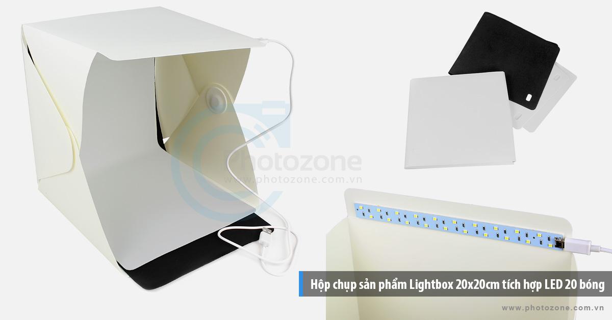 Hộp chụp sản phẩm LightRoom tích hợp LED siêu sáng