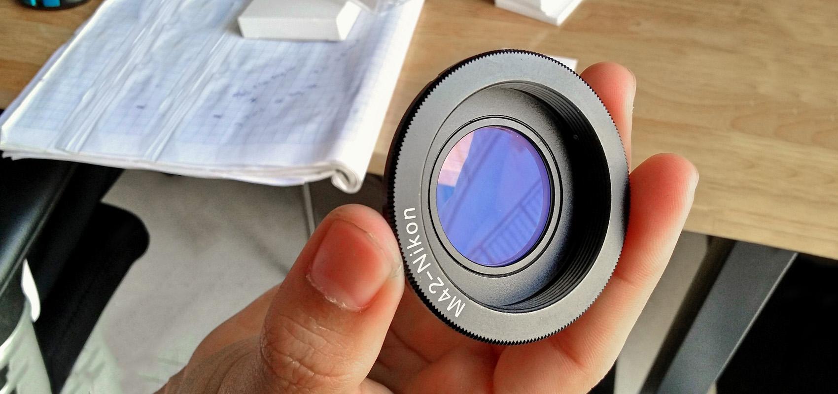 Mount chuyển ngàm M42-Nikon chống cận for body Nikon