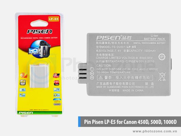 Pin Canon LP-E5 Pisen for Canon 450D, 500D, 1000D