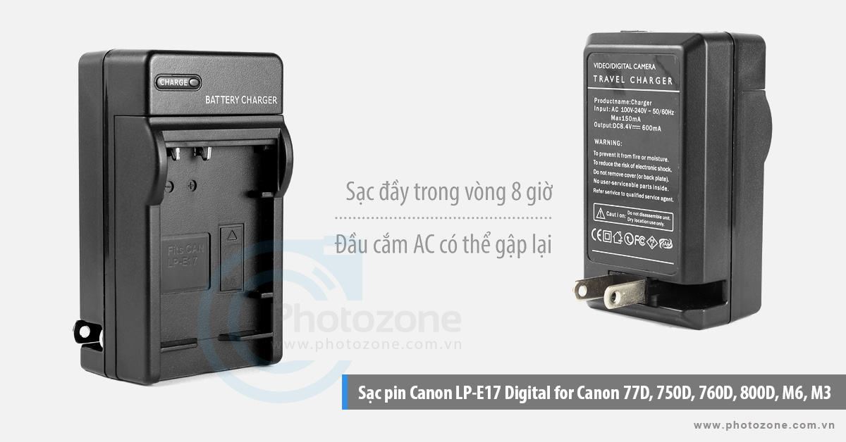 Sạc pin Canon LP-E17 Digital for Canon 77D, 750D, 760D, 800D, M6, M3