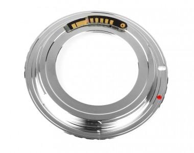Mount chuyển ngàm (Hợp kim) M42-EOS chip báo nét EMF V8 for body Canon
