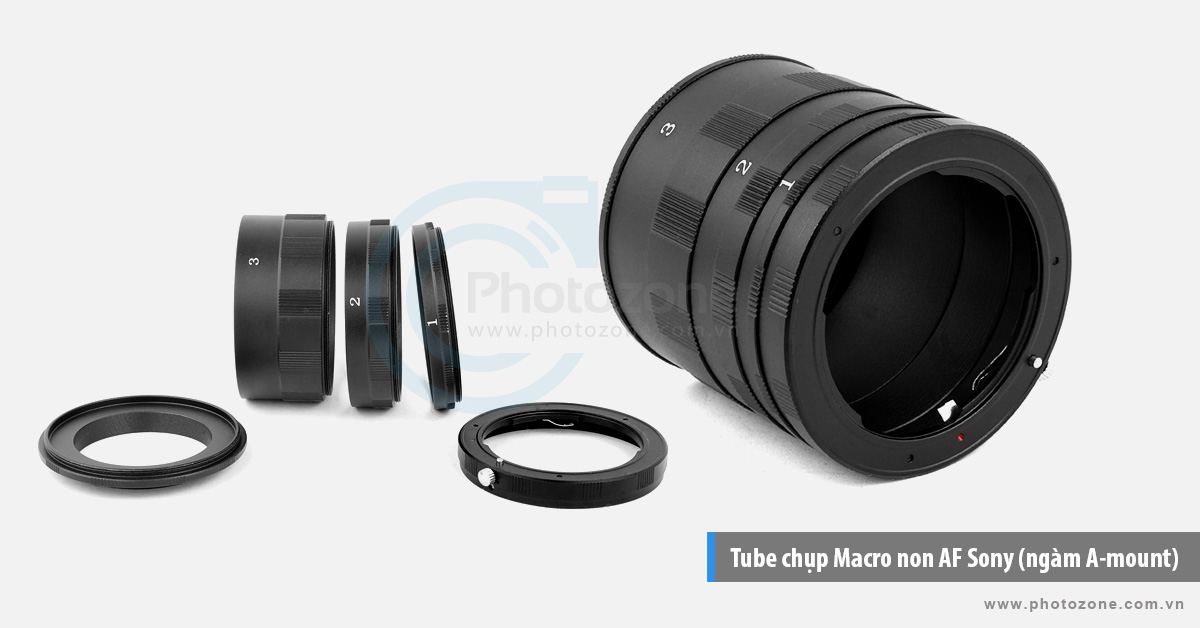 Tube chụp Macro non AF Sony (ngàm A-mount)