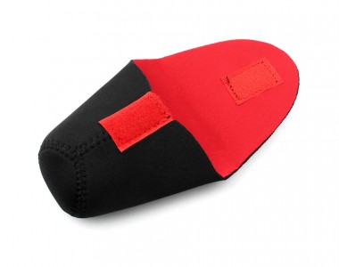 Túi chống sốc lens nắp đậy đỏ đen